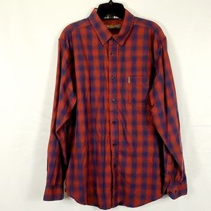 Ben Sherman Mens LS Ombre Plaid Shirt